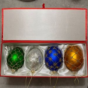 Faberge Inspired Ornaments (Set of 3)
